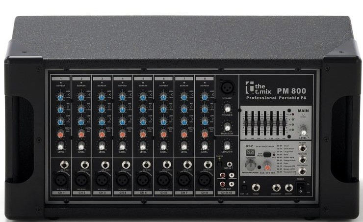 T.mix PM800 Powered Mixer